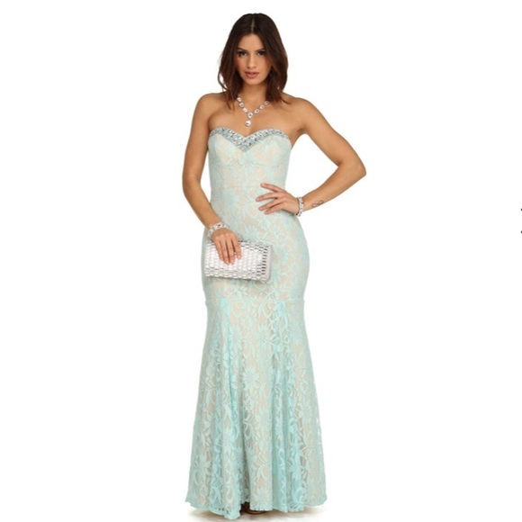Mint Blue Mermaid Prom Dress | Poshmark